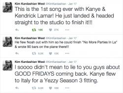 Kim K - Kanye Tweets